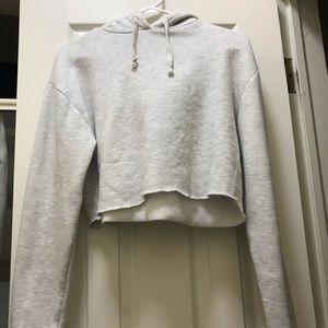 Topshop hoodie crop